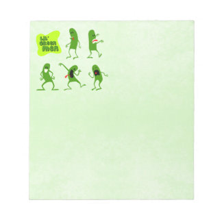 Lil' Green Men Note Pad