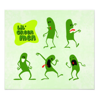 Lil' Green Men Photo Print