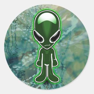 Lil Green MenX2 Round Sticker