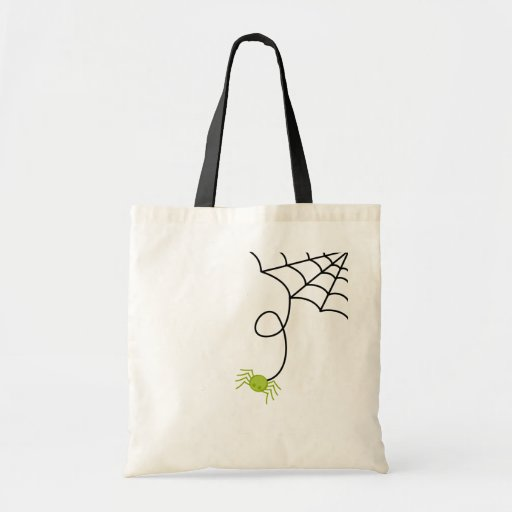 Lil' Green Spider Budget Tote Bag
