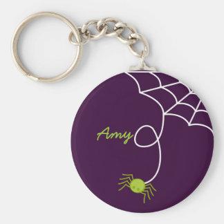 Lil' Green Spider Basic Round Button Keychain