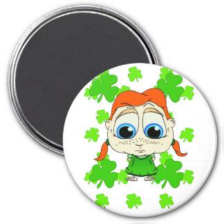 Lil Irish Lass 3 Inch Round Magnet