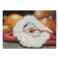 Lil' Jingle Hamster Hat Greeting Card