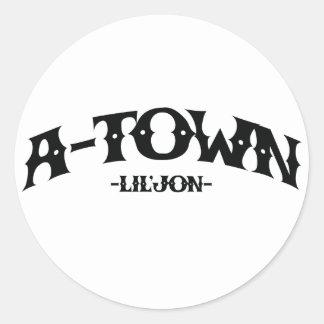 "Lil Jon ""A-Town"" Classic Round Sticker"
