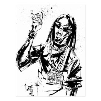 "Lil Jon ""colaboración de Jim Mahfood y Lil Jon "" Tarjeta Postal"