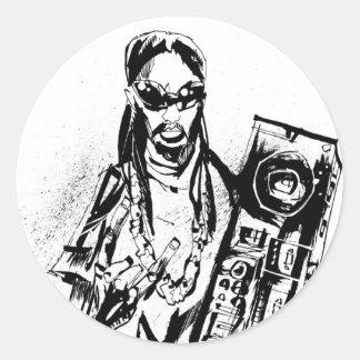 "Lil Jon ""Collaboration by Jim Mahfood and Lil Jon"" Classic Round Sticker"