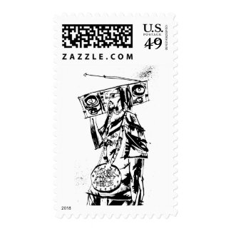 "Lil Jon ""Collaboration by Jim Mahfood and Lil Jon"" Postage Stamps"
