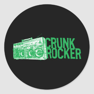 "Lil Jon ""Crunk Rocker Boombox Green"" Classic Round Sticker"