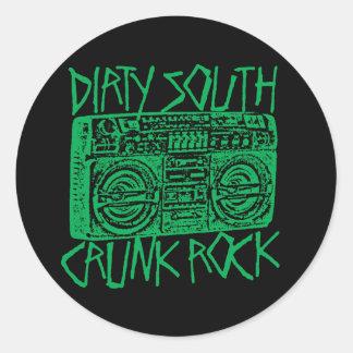 "Lil Jon ""Dirty South Boombox Green"" Classic Round Sticker"