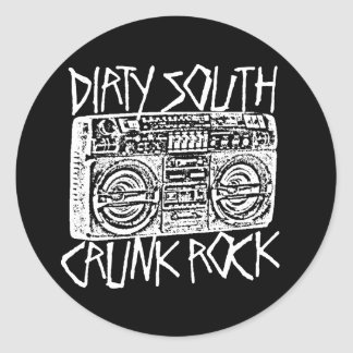 "Lil Jon ""Dirty South Boombox White"" Classic Round Sticker"