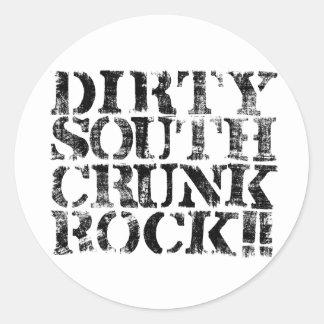 "Lil Jon ""Dirty South Crunk Rock"" Distressed Classic Round Sticker"