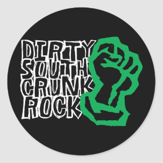 """Lil Jon """"Dirty South Fist"""" Green Round Stickers"""
