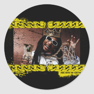 "Lil Jon ""King of Crunk"" Round Stickers"