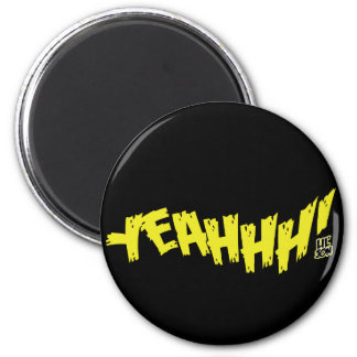 "Lil Jon ""Yeeeah!"" Yellow 2 Inch Round Magnet"