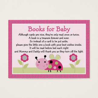 """Lil Ladybug with dots"" Book Request Inserts"