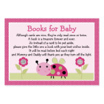 """Lil Ladybug with dots"" Book Request Inserts Large Business Card"