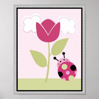 Lil Ladybug with Polka Dots #1 Nursery Art Poster