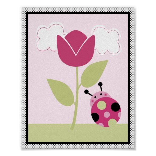 Lil Ladybug with Polka Dots #1 Nursery Art Poster
