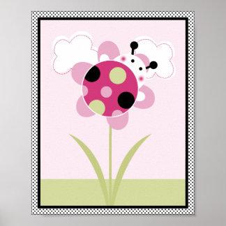 Lil Ladybug with Polka Dots #3 Nursery Art Poster