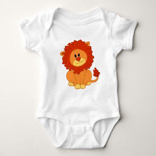 Li'l Lion Plush Baby Bodysuit