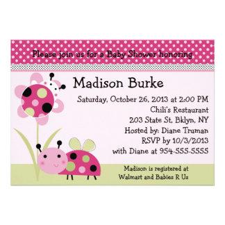 Lil Little Ladybugs Baby Shower Invitation