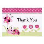 Lil Little Ladybugs Baby Shower Thank You Card