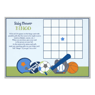 Lil/Little Sports Player Baby Shower Bingo Game Announcements