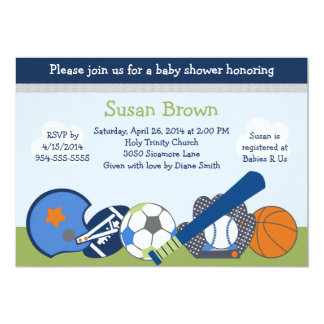 Lil/Little Sports Player Baby Shower Invitation