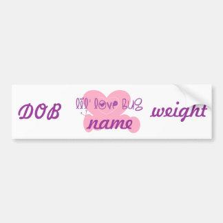 Lil love bug: customize w/name bumper sticker