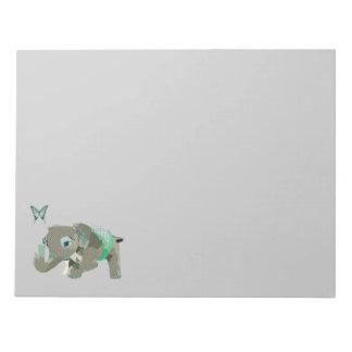 Lil Lucky Elephant & Butterfly Notepad