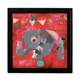 Lil' Lucky Elephant Red Art Box