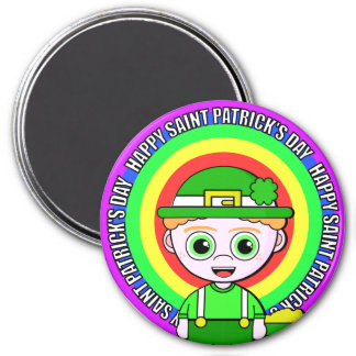 Lil Lucky Saint Patrick's Day 3 Inch Round Magnet