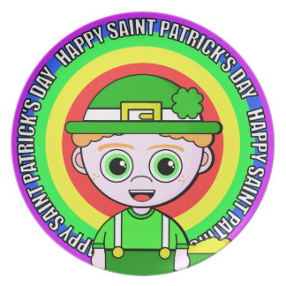 Lil Lucky Saint Patrick's Day Dinner Plate