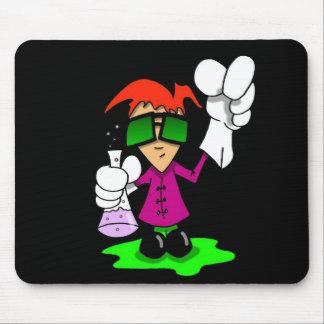 Lil Mad Scientist dark Mouse Pad