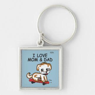 Lil Max I Love Mom & Dad Keychain