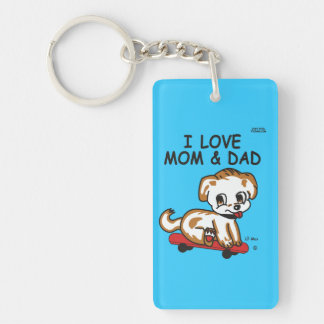 Lil Max's I Love Mom & Dad Double Sided Keychain