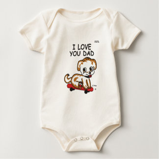 Lil Max's I Love You Dad Baby Bodysuit