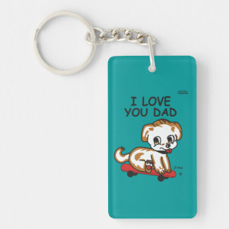 Lil Max's I Love You Dad Keychain Double Side