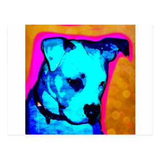 Lil' Miss Artemis The American Bulldog Pup Postcard