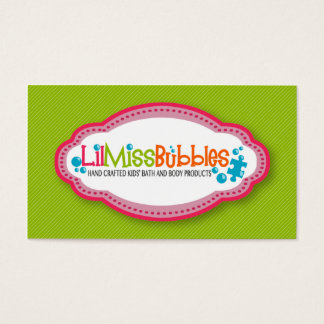 Lil Miss Bubbles Business Cards (10/2013)