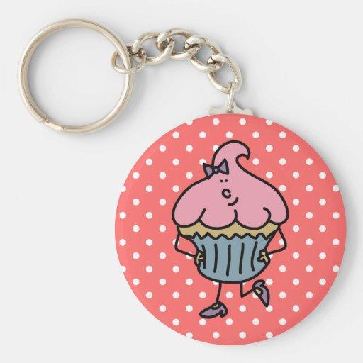 Lil' Miss Cuppy Cake Keychain