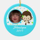 Lil Miss Monkey Custom Ornament