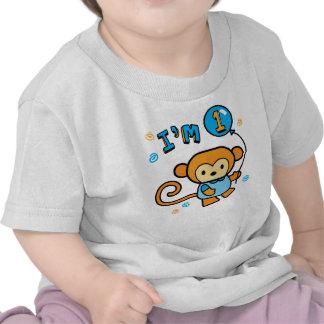 Lil Monkey 1st Birthday T Shirts