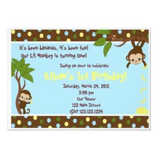 Lil Monkey 5x7 Paper Invitation Card