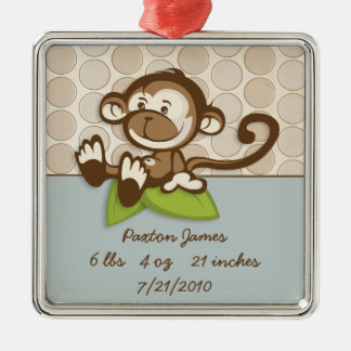 Lil Monkey Birth Ornament Keepsake