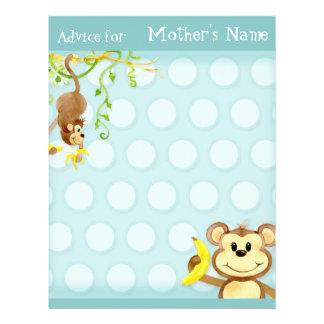 Lil Monkey, Boy Baby Shower Advice Full Color Flyer