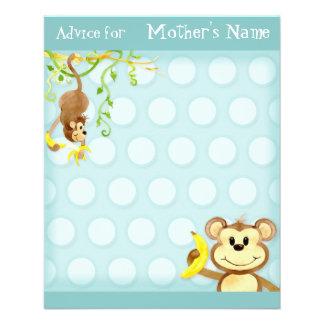 Lil Monkey, Boy Baby Shower Advice Flyers