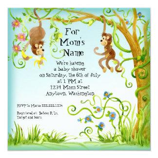 Lil Monkey, Boy Baby Shower Invitation