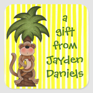 Lil Monkey Gift Stickers or Book Plate