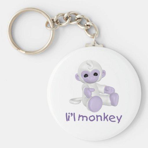 L'il Monkey (lavendar) Keychains